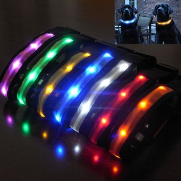 LED Nylon Pet Dog & Cat Collar