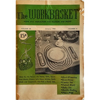 Workbasket January 1955 Volume 20 Number 4 Magazine Knit Needlecraft Gifts wb204