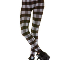 High Waisted Plaid Leggings (6 Colors Available)