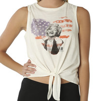 Flag Marilyn Tie Front Tank | Shop Tops at Wet Seal