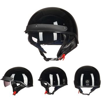 ILM Retro and Vintage Half Open Face DOT Approved Motorcycle Helmet With Visor for Man and Woman S M L XL