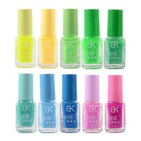 BK Brand Colorful Fluorescent Nail Polish Luminous Nail Lacquer Pure Sweet Colors Neon Enamel Paint Glow In the Dark 7ml