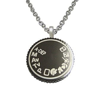 Camera Dial Pendant Necklace