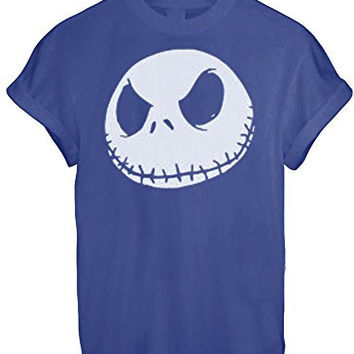 Jack Jumbo Face Head Nightmare Before Christmas White Grey BLACK - Blue