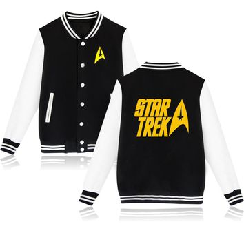 Hot Sale Star Trek StarShip Enterprise Design Baseball Jacket Unisex Men/Women Sweatshirt Winter Hoodie Hip Hop Sudaderas Hombre
