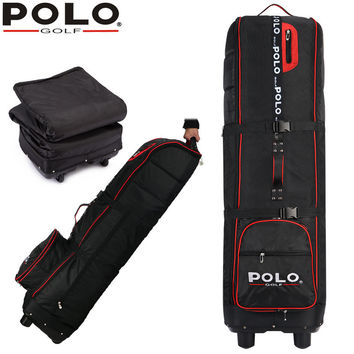 POLO Golf thicker airplane bag with rubber wheel