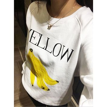 Autumn and winter new sweet cherry banana orange cute fruit hedging loose sweater woman