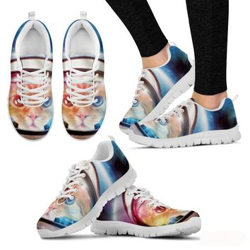 Cat Print Sneakers Shoes Women - Free Shipping