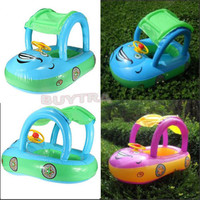 Pleasing Swim Pool Inflatable Baby Float Seat Boat Tube Ring Car Sun Shade LAUS