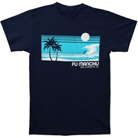Fu Manchu Men's  Surf San Clemente T-shirt Navy