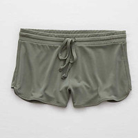 Aerie Real Soft® Dolphin Short , Olive Fun