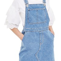 Topshop Denim Pinafore Style Dress | Nordstrom