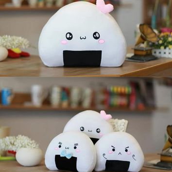 Candice guo plush toy stuffed doll cartoon model Sushi Japanese dish rolls cold rice roll ball rest pillow cushion baby gift 1pc