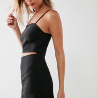 Silence + Noise Straight Neck Slash Romper | Urban Outfitters