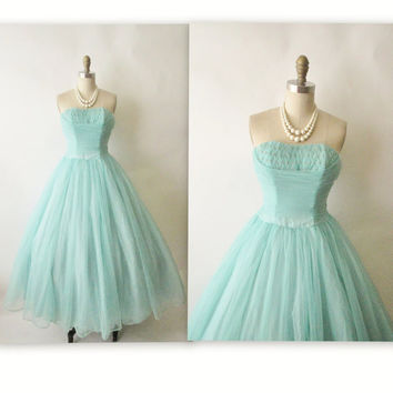 Homecoming Dress,Strapless Mint Green Long Chiffon Prom Dress