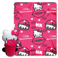 Seattle Seahawks NFL Hello Kitty with Throw Combo