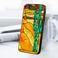 Cactus Stained Glass iPhone 5 Or 5S Case