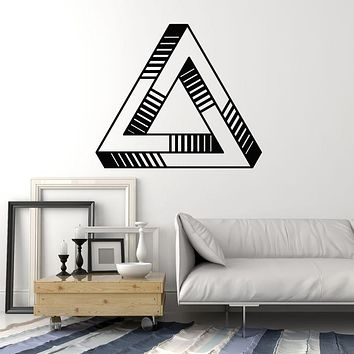Vinyl Wall Decal Triangle Optical Illusion Geometric Element Stickers Mural (g966)
