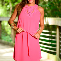 Laced Together Dress, Pink