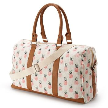 Candie's Pineapple Overnighter Duffel Bag (Orange)