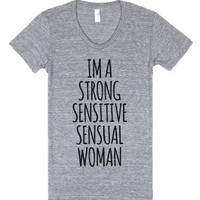 Im A Strong Woman-Female Athletic Grey T-Shirt