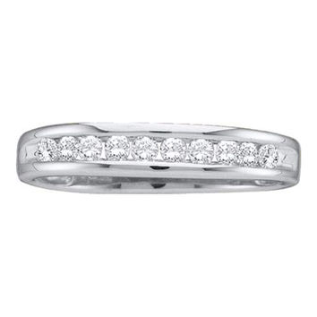 Diamond Fashion Band in 14k White Gold 0.1 ctw