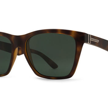 VonZipper - Booker Tortoise Satin TOR Sunglasses, Vintage Grey Lenses