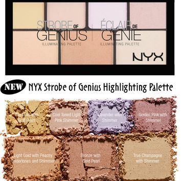 NYX STROBE OF GENIUS ILLUMINATING HIGHLIGHTING PALETTE