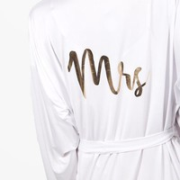 Tall Leah 'Mrs' Bridal Robe | Boohoo