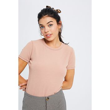 Here Today Tee - Dusty Blush