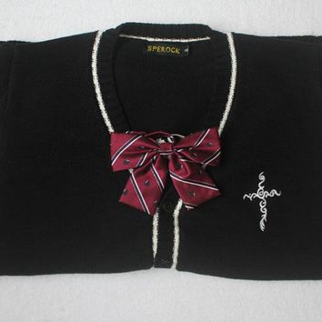 Beautiful Embroidered Cross Cardigan Sweater for girls