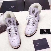 Philipp Plein Women Casual Low Heeled Shoes Boots