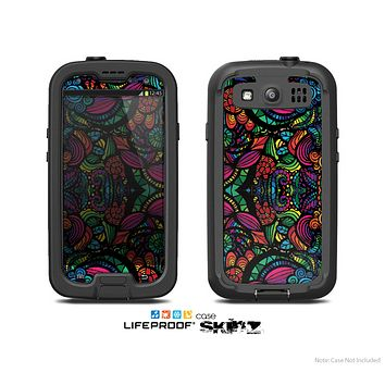 The Neon Colored Vector Seamless Pattern Skin For The Samsung Galaxy S3 LifeProof Case
