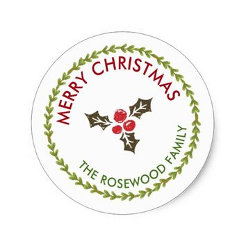 Personalized with Christmas Berry | Sticker