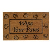 Wipe Your Paws Welcome Mat