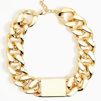 ID Necklace - Gold