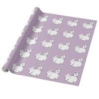 White Rabbits Lilac Mauve Wrapping Paper