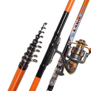 ONETOW LEO 2.7-6.3M  Super Hard Fishing Rod Telescopic Sea Fishing Pole Rock Rockies Carp Fishing Gear Tackle Fishing Accessories