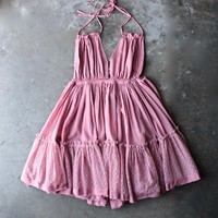 eternal grace halter dress in vintage rose