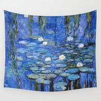 water lilies a la Monet Wall Tapestry by Jo.PinX