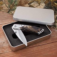 Personalized Pocket Knife - Camouflage - Lock Back -