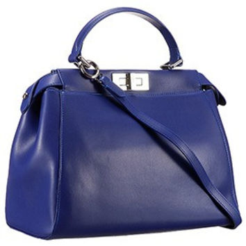 Fendi Peekaboo Medium Blue Bag