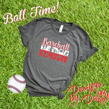 Baseball Mom TShirt - Baseball Mom Knockout | Baseball Tee | Ball Mom Tee | Baseball Tshirt | Team Spirit | Baseball | Bella Canvas Tee