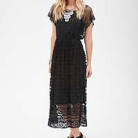 Crochet Lace Maxi Dress