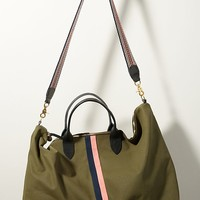 Clare V. Waxed Canvas Weekender Bag