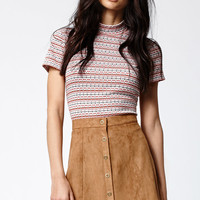 Kendall and Kylie Faux Suede Scalop Hem Skirt at PacSun.com
