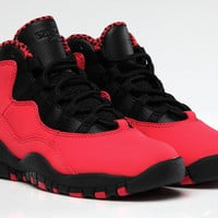 GIRLS AIR JORDAN 10 RETRO 'FUSION RED'