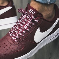 KUYOU NIKE AIR FORCE 1 MAROON WHITE