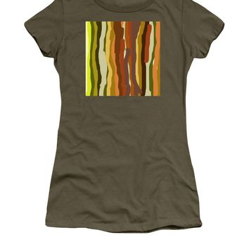 Ooh, You Are Awful ... But I Like You, Abstract Art By Adam Asar - Women's T-Shirt (Athletic Fit)
