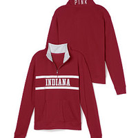 Indiana University Boyfriend Half Zip - PINK - Victoria's Secret